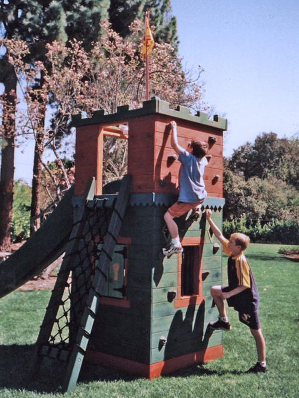 modern-castle-play-set-with-climbing-wall