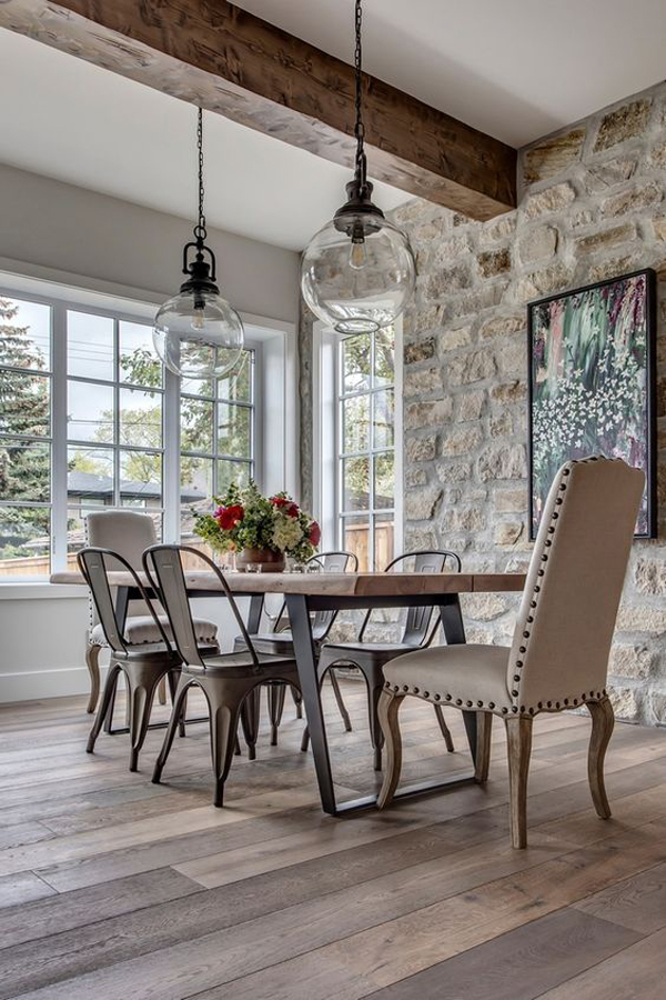modern-french-dining-room-with-stone-walls