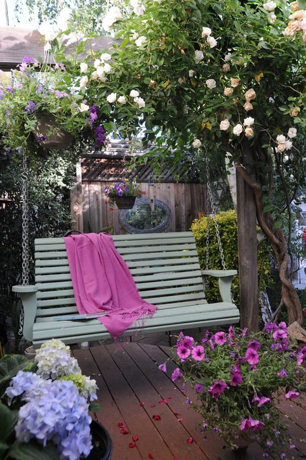 romantic-swing-seats-for-small-garden