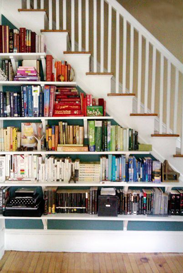 under-stair-bookshelf-with-rainbow-color