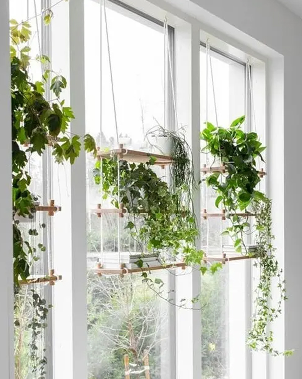wooden-hanging-plant-shelves-ideas