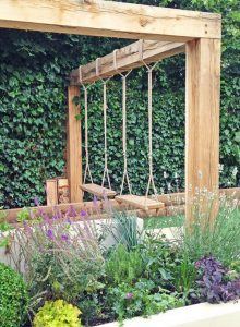 wooden-swing-garden-design