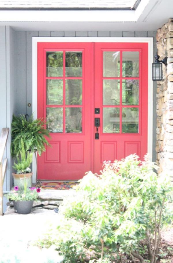 berry-pink-front-door-design