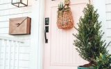 cute-pink-front-door-design