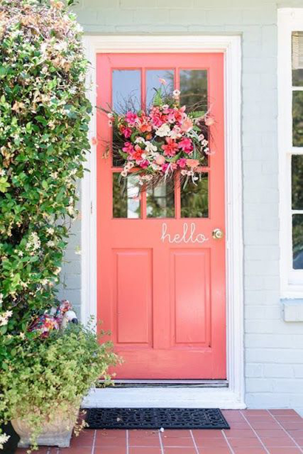 french-country-pink-front-doors