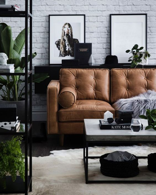 industrial-masculine-living-room-with-brick-exposed