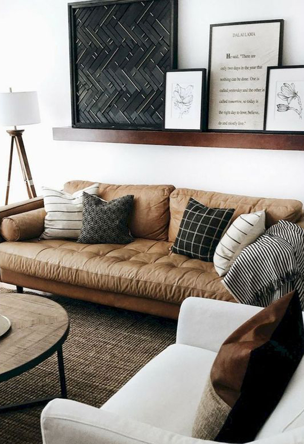 leather-masculine-living-room-for-small-spaces