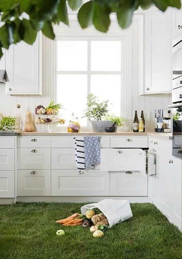 modern-grass-floor-in-the-kitchen