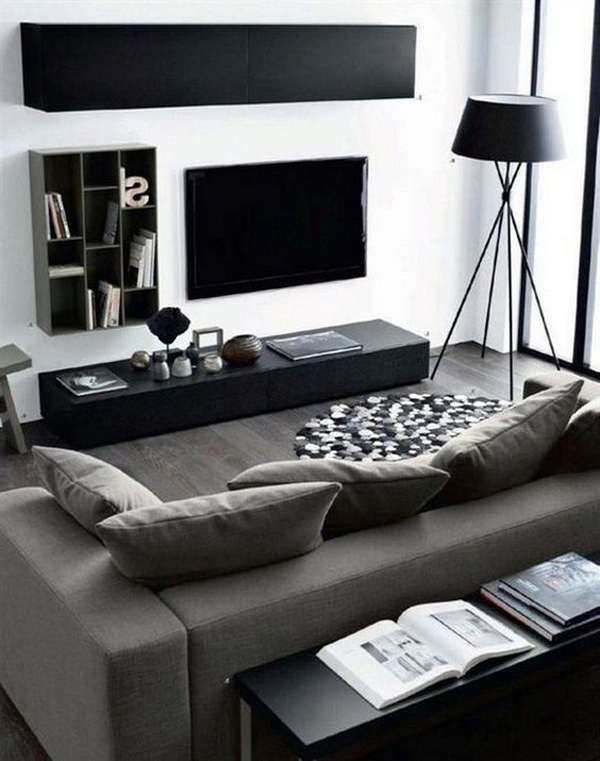 modern-masculine-living-room-with-tv-wall