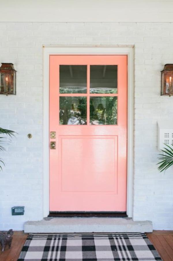 old-pink-front-door-ideas