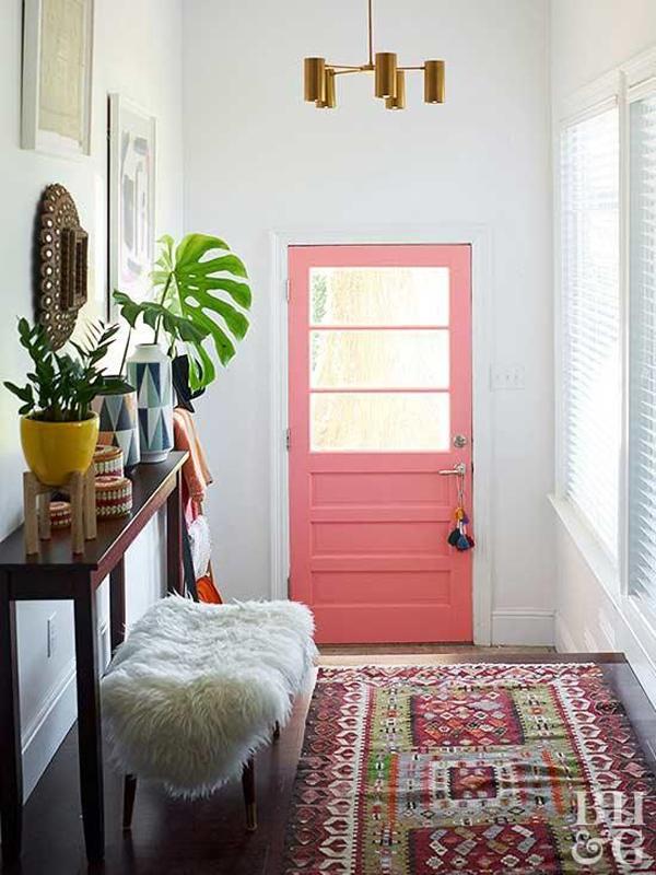 pink-front-door-for-your-entryway