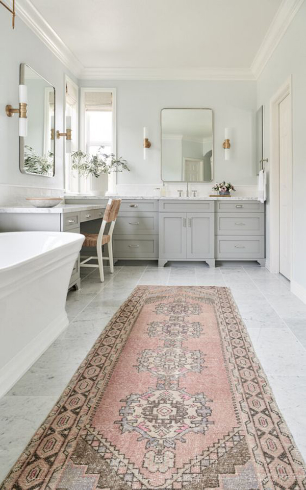 pink-tribal-area-rugs-for-bathroom