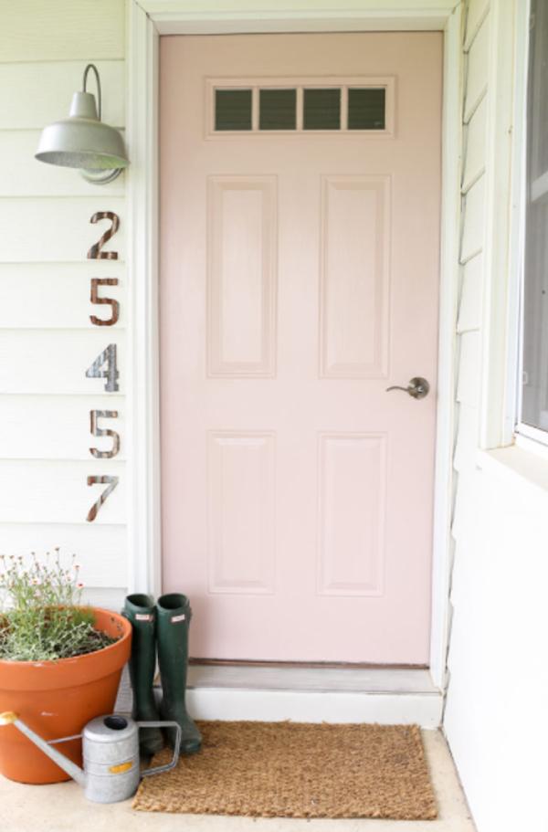 sweet-blush-pink-front-door