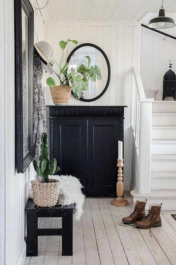 under-stairs-black-cabinet-decor