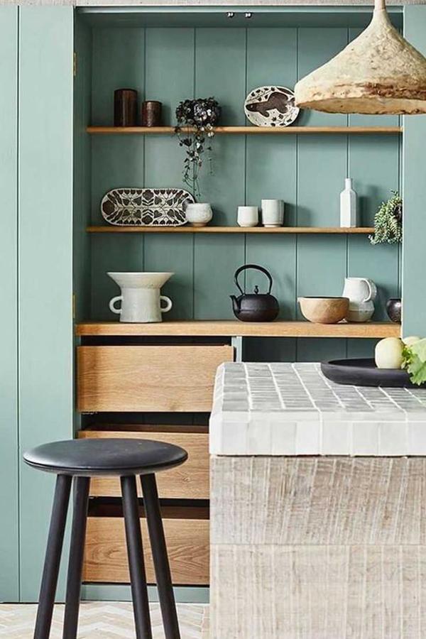 vintage-blue-japandi-kitchen-decoration