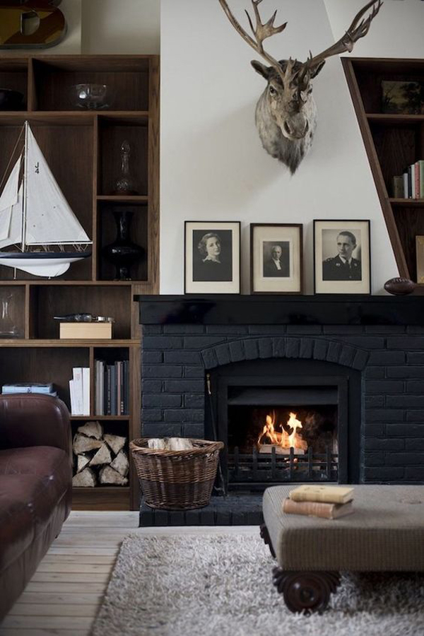 vintage-masculine-living-rooms-with-fireplace
