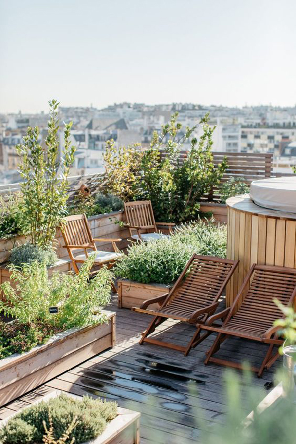 wooden-rooftop-garden-design