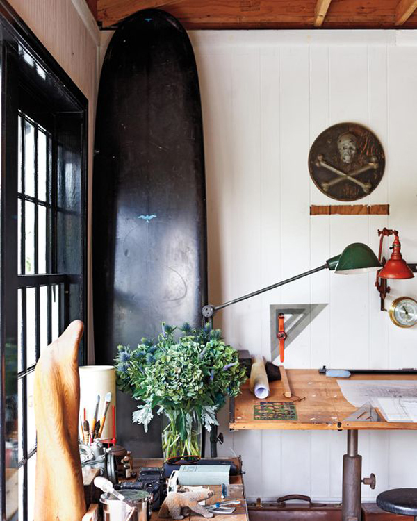 beach-home-office-design-with-surfboard-display