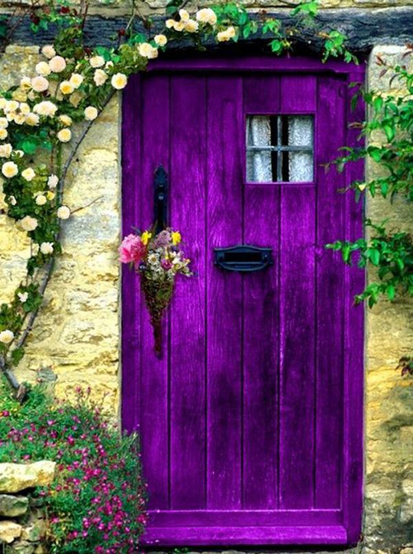 beautiful-purple-door-designs