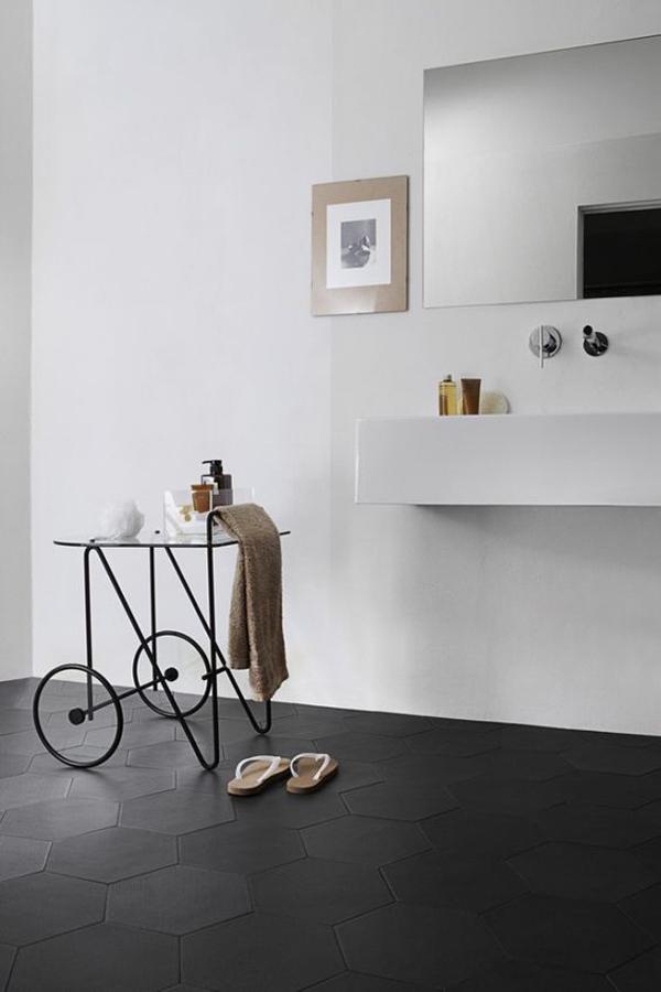 black-tile-floor-design-for-modern-bathroom
