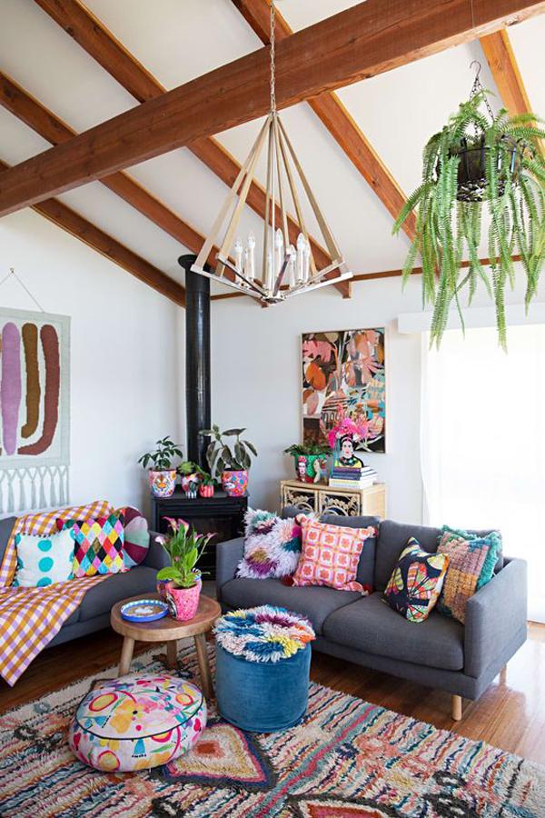 boho-chic-living-room-for-summer