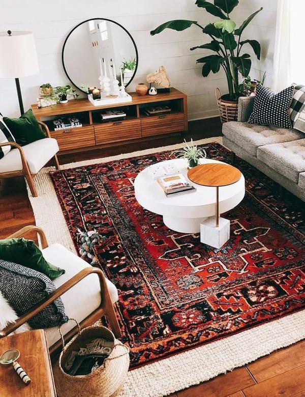 boho-chic-retro-rugs-for-living-room