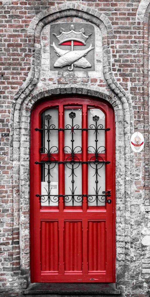 bold-front-door-with-brick-wall