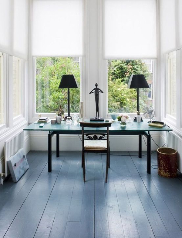 bright-home-office-with-black-wood-floor-design