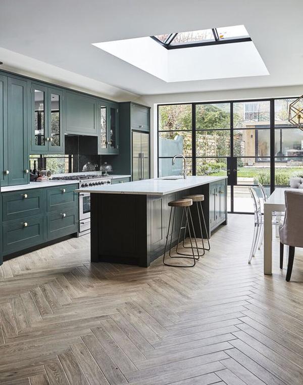 bright-kitchen-island-design-with-skylight