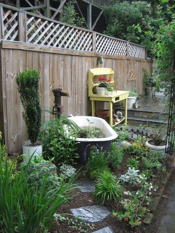 classic-bathtub-gardenpond-with-landscapes