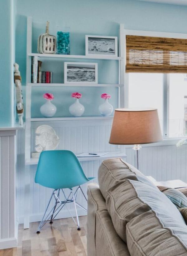 coastal-beach-theme-home-office-in-living-room
