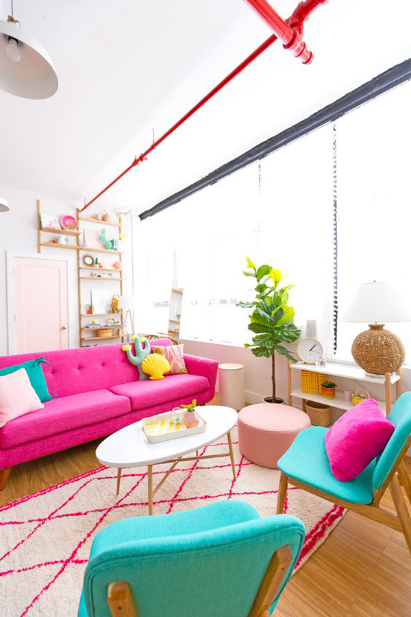 colorful-living-room-decor-for-summer
