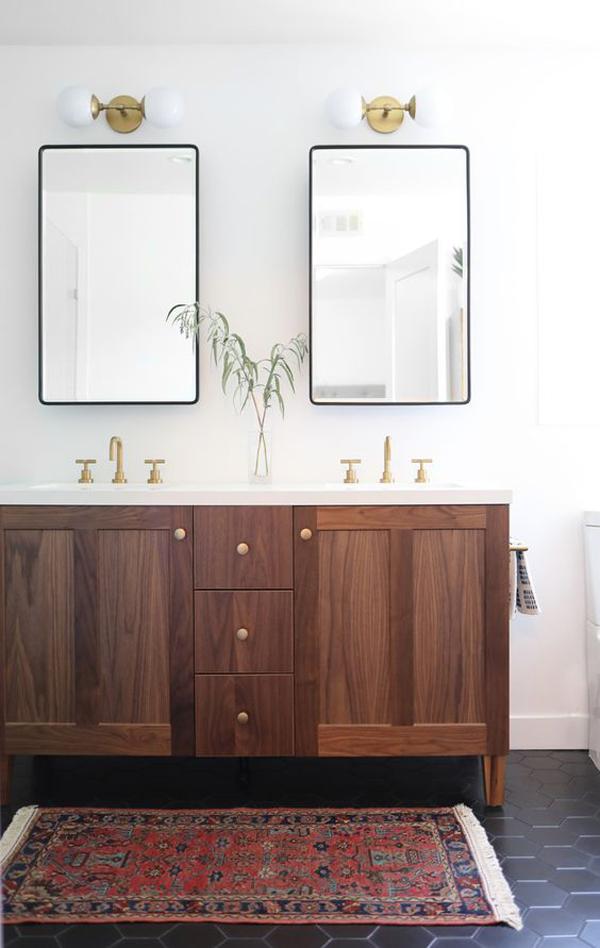 contempory-bathroom-with-black-floor-tiles