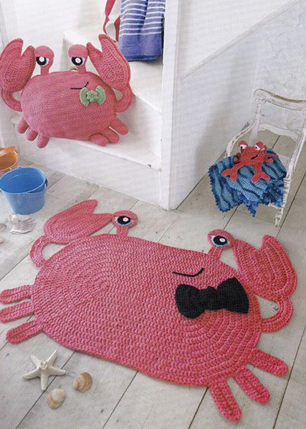 crab-animal-nursery-rug
