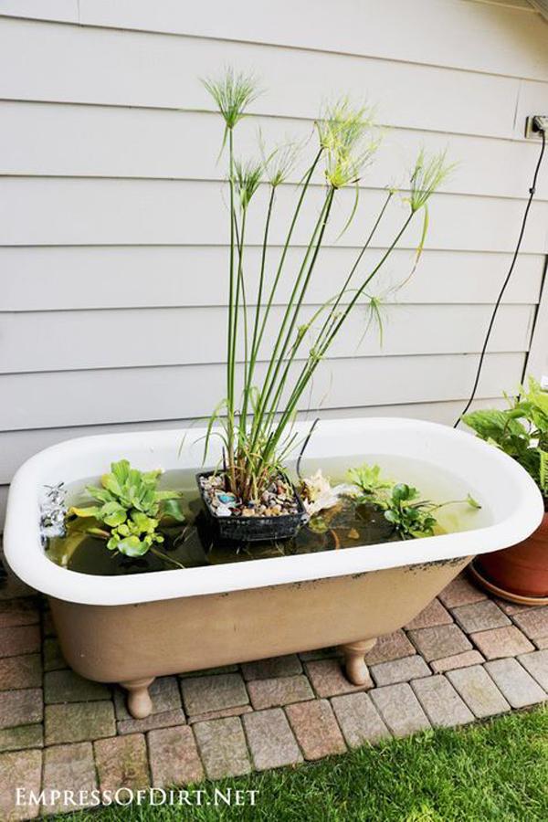 diy-bathtub-garden-pond-tutorial