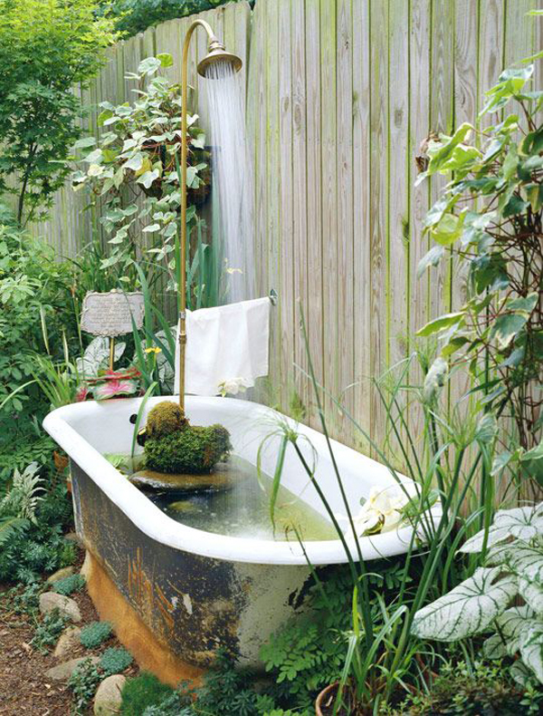 diy-outdoor-bathtub-pond-with-shower