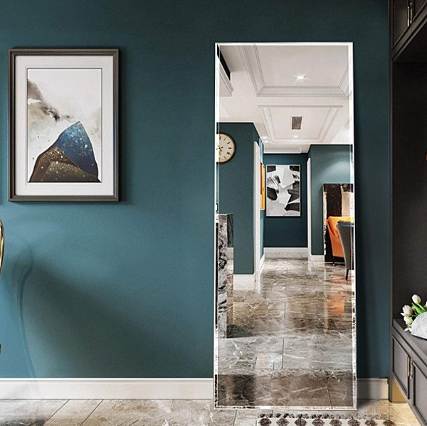 eclectic-full-length-mirror-for-spacious-room