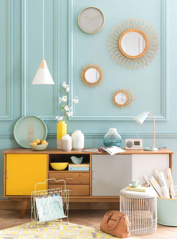eclectic-mint-wall-decorations