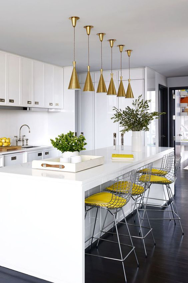fun-kitchen-island-design-with-yellow-accent