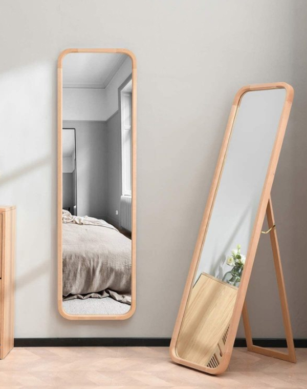 light-wood-full-length-mirror-ideas