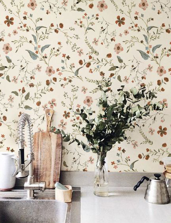 little-flower-kitchen-wallpaper