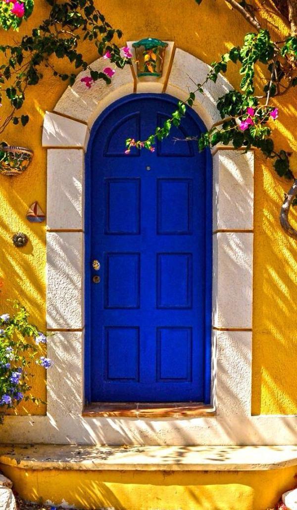 meditteranean-blue-front-door