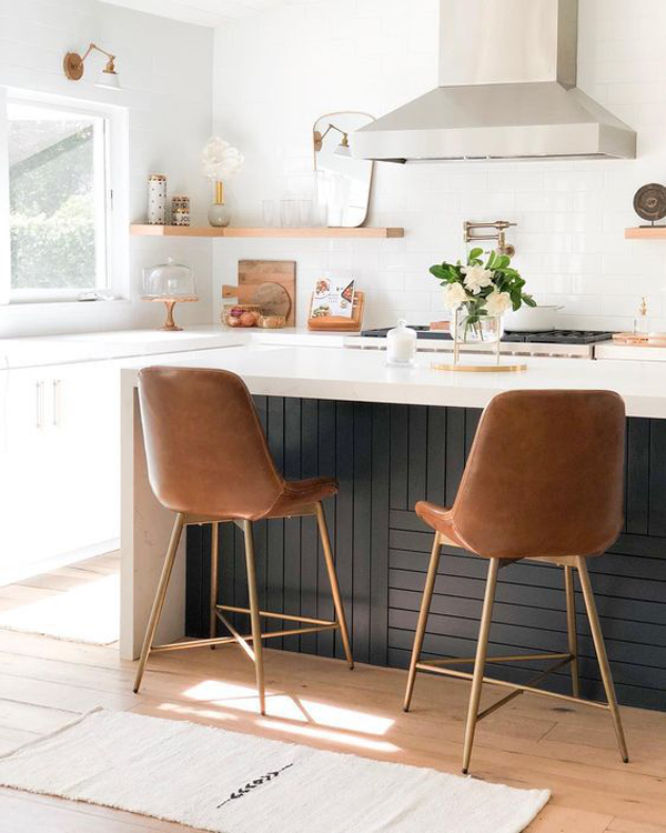 midcentury-kitchen-island-for-tiny-space