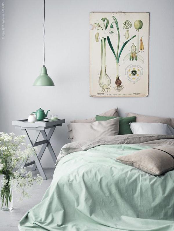 mint-bedroom-ornaments