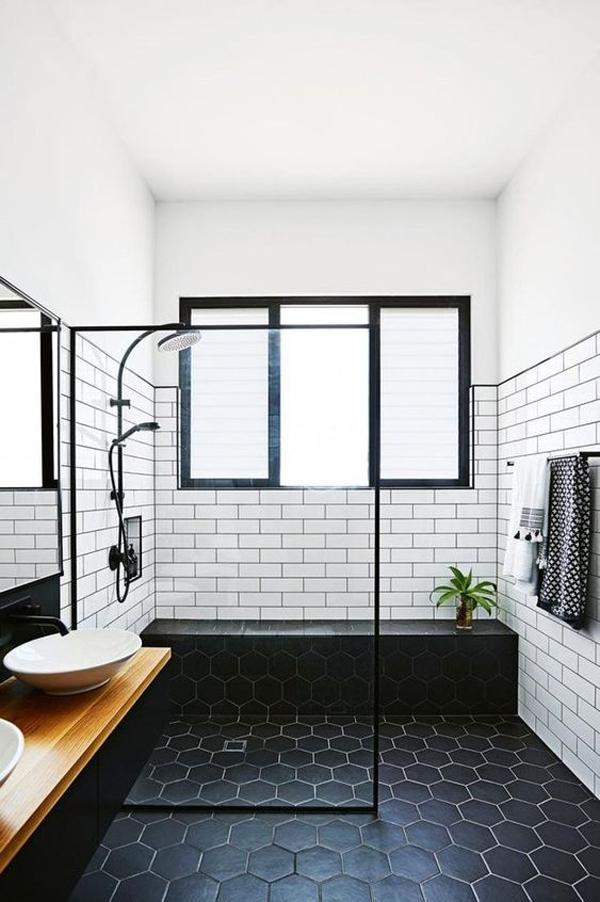 modern-bathroom-with-hexagonal-black-floor
