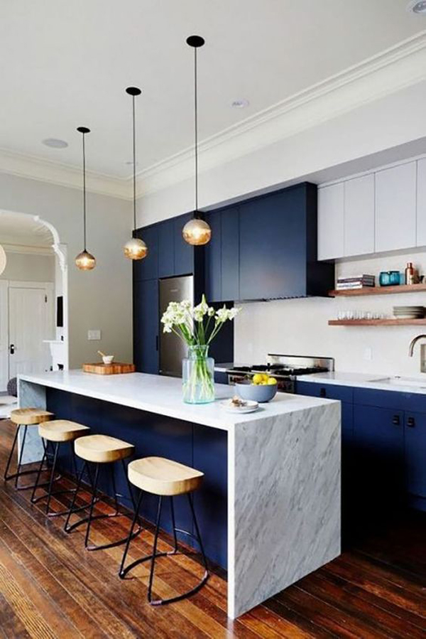 modern-blue-kitchen-island