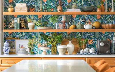 modern-boho-kitchen-wallpaper-decor