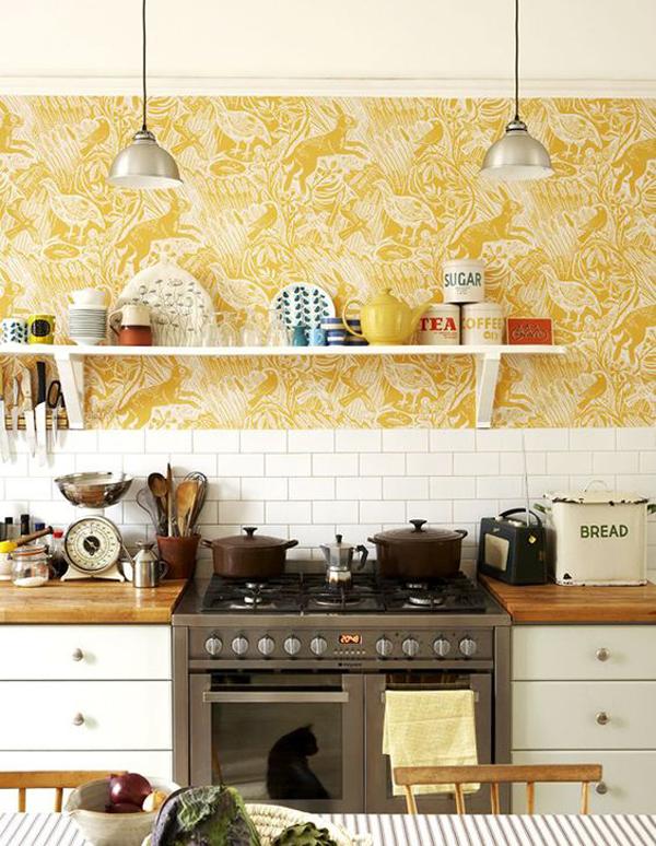 mustard-kitchen-wallpaper-design