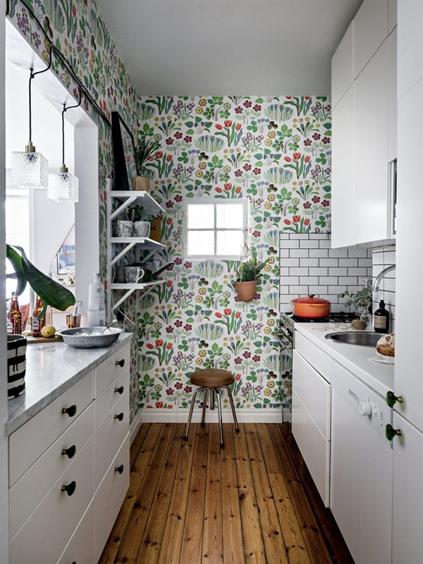 nature-wallpaper-for-white-kitchen