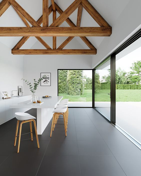 open-dining-room-with-black-matt-floor